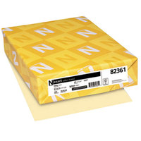 Neenah 82361 Exact 8 1/2 inch x 11 inch Ivory Pack of 67# Vellum Paper Cover Stock - 250/Pack