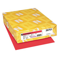 Neenah 26751 Exact Brights 8 1/2 inch x 11 inch Bright Red Ream of 20# Copy Paper - 500/Sheets