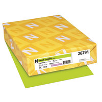 Neenah 26791 Exact Brights 8 1/2 inch x 11 inch Bright Green Ream of 20# Copy Paper - 500/Sheets