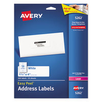 Avery 5262 Easy Peel 1 1/3 inch x 4 inch Printable Mailing Address Labels - 350/Pack