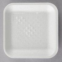 CKF 88101 (#1S) White Foam Meat Tray 5 1/4 inch x 5 1/4 inch x 1/2 inch - 1000/Case