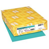 Neenah 26811 Exact Brights 8 1/2 inch x 11 inch Bright Aqua Ream of 20# Copy Paper - 500/Sheets