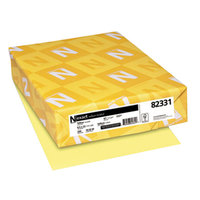 Neenah 82331 Exact 8 1/2 inch x 11 inch Yellow Pack of 67# Vellum Paper Cover Stock - 250/Pack