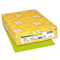 Astrobrights 22781 8 1/2 inch x 11 inch Terra Green Pack of 65# Smooth Color Paper Cardstock - 250/Pack