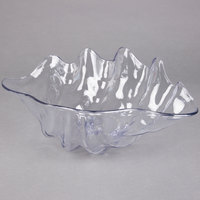 Carlisle 034407 19 inch x 12 7/8 inch 5 Qt. Clear Shell Shaped Plastic Bowl