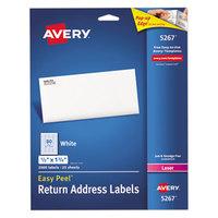 Avery 5267 Easy Peel 1/2 inch x 1 3/4 inch Printable Return Address Labels - 2000/Pack