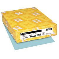 Neenah 49521 Exact 8 1/2 inch x 11 inch Blue Pack of 110# Index Paper Cardstock - 250/Pack
