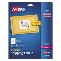 Avery 5264 TrueBlock 3 1/3 inch x 4 inch White Shipping Labels - 150/Pack
