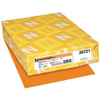 Neenah 26721 Exact Brights 8 1/2 inch x 11 inch Bright Orange Ream of 20# Copy Paper - 500/Sheets