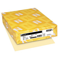 Neenah 49581 Exact 8 1/2 inch x 11 inch Ivory Pack of 110# Index Paper Cardstock - 250/Pack