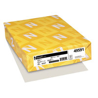Neenah 49591 Exact 8 1/2 inch x 11 inch Gray Pack of 110# Index Paper Cardstock - 250/Pack