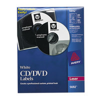 Avery 5692 Matte White CD / DVD Labels - 40/Pack