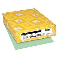 Neenah 82351 Exact 8 1/2 inch x 11 inch Green Pack of 67# Vellum Paper Cover Stock - 250/Pack