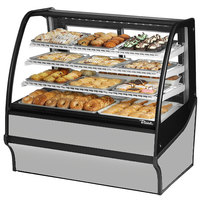 True TDM-DC-48-GE/GE 48 inch Stainless Steel Curved Glass Dry Bakery Display Case