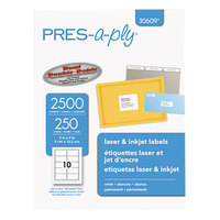 Avery 30609 2 inch x 4 inch White Laser Shipping Labels - 2500/Box