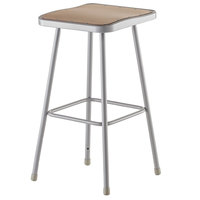 National Public Seating 6330 30 inch Gray Hardboard Square Lab Stool