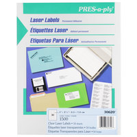 Avery 30620 1 inch x 2 5/8 inch Clear Laser Address Labels - 1500/Box