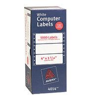 Avery 4014 1 7/16 inch x 4 inch White Dot Matrix Mailing Labels - 5000/Box