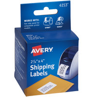 Avery 4153 2 1/8 inch x 4 inch White Thermal Shipping Labels - 140/Box