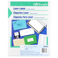 Avery 30622 1 1/3 inch x 4 1/4 inch Clear Laser Address Labels - 700/Box