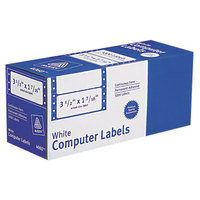 Avery 4060 1 7/16 inch x 3 1/2 inch White Dot Matrix Mailing Labels - 5000/Case