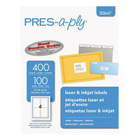 Avery 30641 3 1/2 inch x 5 inch White Laser/Inkjet Shipping Labels - 400/Pack
