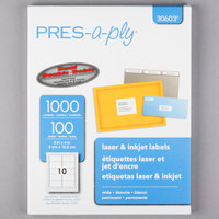 Avery 30603 2 inch x 4 inch White Laser Shipping Labels - 1000/Box