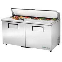 True TSSU-60-16-ADA-HC 60 inch ADA Height 2 Door Refrigerated Sandwich Prep Table