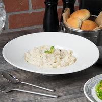 Syracuse China 987659373 Silk 16 oz. Round Royal Rideau White Wide Rim Porcelain Pasta Bowl - 12/Case