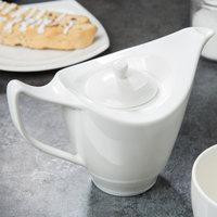 Syracuse China 987659336 Silk 14.5 oz. Royal Rideau White Porcelain Tea Pot with Lid - 12/Case