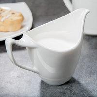 Syracuse China 987659396 Silk 6 oz. Royal Rideau White Porcelain Creamer - 24/Case