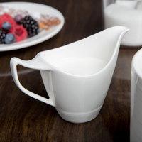Syracuse China 987659339 Silk 3.75 oz. Royal Rideau White Porcelain Creamer - 36/Case