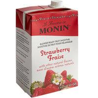 Monin 46 oz. Strawberry Fruit Smoothie Mix