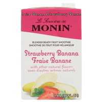Monin 46 oz. Strawberry Banana Fruit Smoothie Mix
