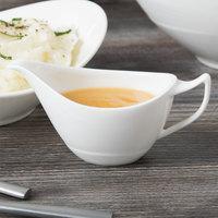 Syracuse China 987659397 Silk 3 oz. Royal Rideau White Porcelain Sauce Boat - 12/Case