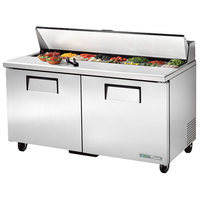 True TSSU-60-16-HC 60 inch 2 Door Refrigerated Sandwich Prep Table