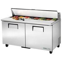 True TSSU-60-16-HC 60 inch 2 Door Refrigerated Sandwich Prep Table
