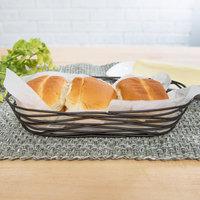Tablecraft BK11709 Artisan Oblong Black Wire Basket - 9 inch x 4 inch x 2 inch