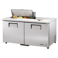 True TSSU-60-8-ADA-HC 60 3/8 inch ADA Height 2 Door Refrigerated Sandwich Prep Table