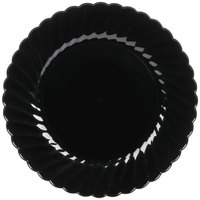 WNA Comet CW75180BK Classicware 7 1/2 inch Black Plastic Plate   - 180/Case