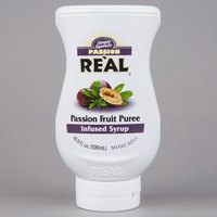 Real 16.9 fl. oz. Passion Fruit Puree Infused Syrup