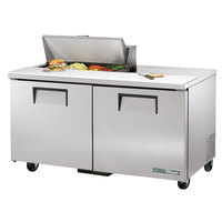 True TSSU-60-8-HC 60 3/8 inch 2 Door Refrigerated Sandwich Prep Table