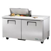 True TSSU-60-8-HC 60 3/8 inch 2 Door Refrigerated Sandwich Prep Table
