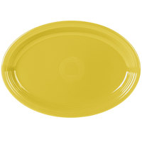 Fiesta Tableware from Steelite International HL968320 Sunflower 19 1/4 inch x 13 1/2 inch Oval Extra Large China Serving Platter - 2/Case