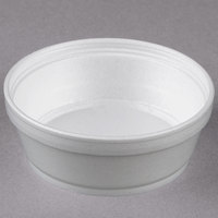 Dart 8SJ32 8 oz. Customizable Super Squat White Foam Food Container - 500/Case