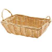 Tablecraft 1185W Rectangular Woven Basket with Handles 8 1/2 inch x 5 inch x 2 1/2 inch - 12/Pack
