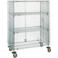 Metro SEC65EC Mobile Standard Duty Wire Security Cabinet - 52 3/4 inch x 33 1/2 inch x 68 1/2 inch