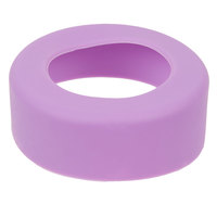 Tablecraft SB53PR Purple Silicone Widemouth Squeeze Bottle Band (53mm) - 12/Pack