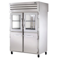 True STA2RPT-2HG/2HS-2G-HC Specification Series 52 5/8 inch Half Glass and Solid Front, Full Glass Back Pass-Through Refrigerator
