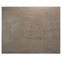 BFM Seating CNT2430 Midtown 24 inch x 30 inch Textured Concrete Laminate Indoor Tabletop